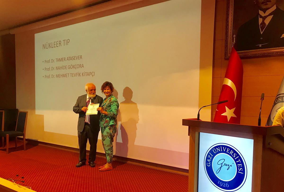 On the 40th anniversary of the establishment of Gazi University Faculty of Medicine,  Prof. Dr. Nahide Gökçora has made us proud by receiving a certificate of honor.